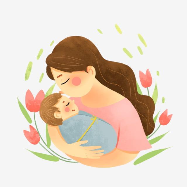 Картинки мама целует ребенка нарисованные
