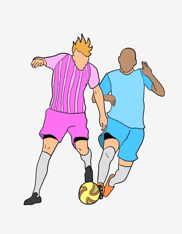 Playing Football Game Character Illustration Kicking Football Character Illustration Football Match Yellow Football Png Transparent Clipart Image And Psd File For Free Download