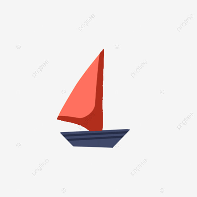 Red Small Sailboat, Red, Sailing, Model PNG Transparent
