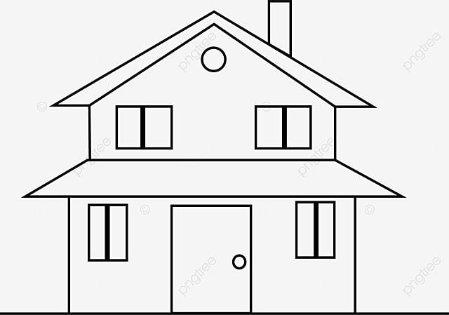 Stupendous Simple Black Line House Stick Figure Simple Black Lines Download Free Architecture Designs Scobabritishbridgeorg
