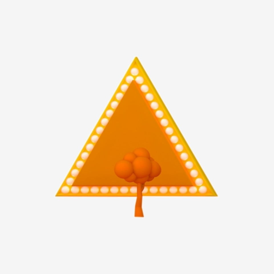 Triangle object. Triangular yellow png transparent
