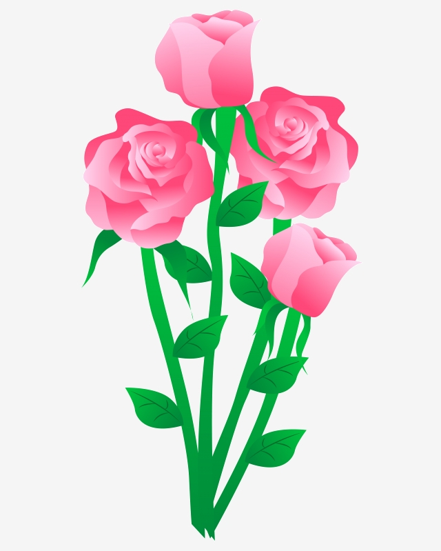 Vektor Kartun Bunga Mawar Tinta Mawar Antik Tinta Naik Mawar Png Dan Vektor Dengan Latar Belakang Transparan Untuk Unduh Gratis