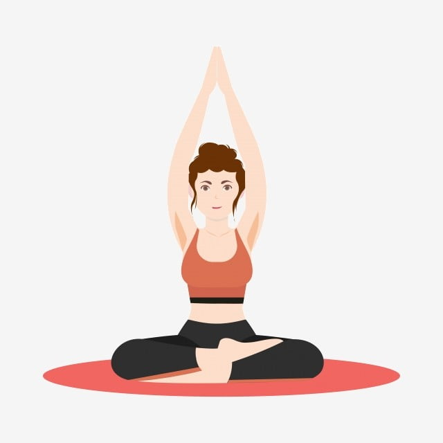Vector Free Buckle Cartoon Woman Yoga Female Action Yoga Pose Woman Practicing Yoga Png And Vector With Transparent Background For Free Download