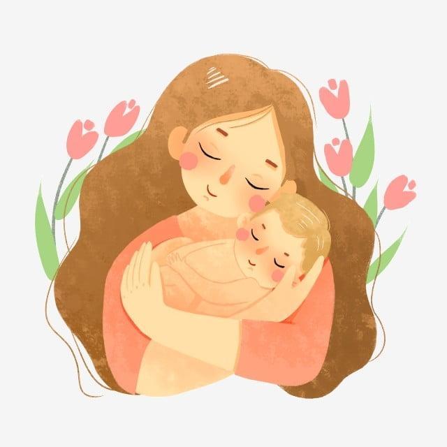 Мама малыш картинки нарисованные