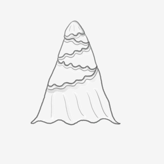 Wedding Bridal Veil White Polyline And Top Small Shell Style PNG