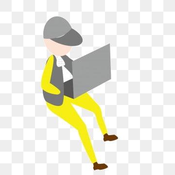 Uomo calvo grasso personaggio dei cartoni animati illustrazione