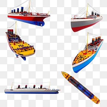 Three dimensional exquisite cruise liner map png, Three-dimensional, 3d, Big Ship PNG and PSD
