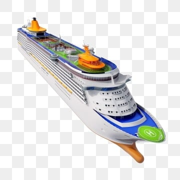 Three dimensional exquisite cruise ship png, Three-dimensional, Luxury Cruise, Sea PNG and PSD