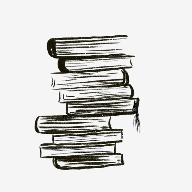 Une Pile De Livres Une Pile D Illustrations De Livres Encre