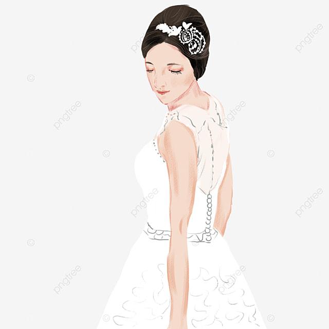 Pengantin Perkahwinan Putih Kartun Pengantin Kartun Pengantin