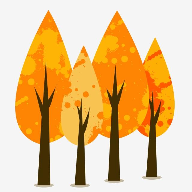 Cartoon Autumn Trees Free Clipart, Autumn Maple, Cartoon