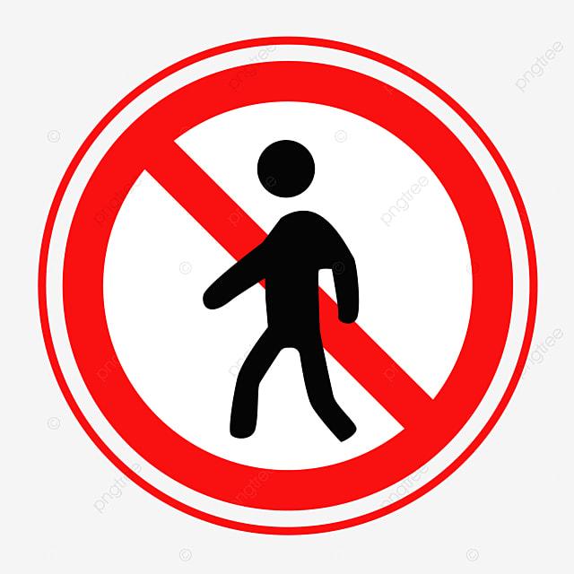 禁止行人禁止通行行人圖標卡通禁止, 嚴禁圖標, 卡通禁止, 禁止通行素材 ...