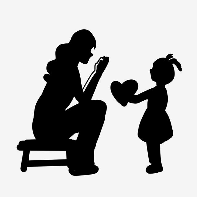 창조적 인 만화 어머니와 아이 따뜻한 실루엣 해피 어머니의 날 창조적 인 어머니의 해피 어머니의 날무료 다운로드를위한 Png 및 Psd 파일