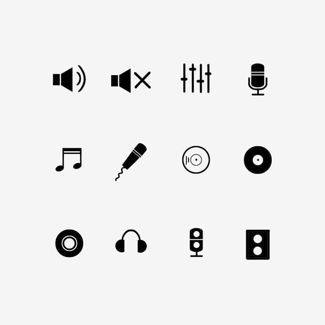 Icon Black And White Sound Effect Icon, Icon, Black And
