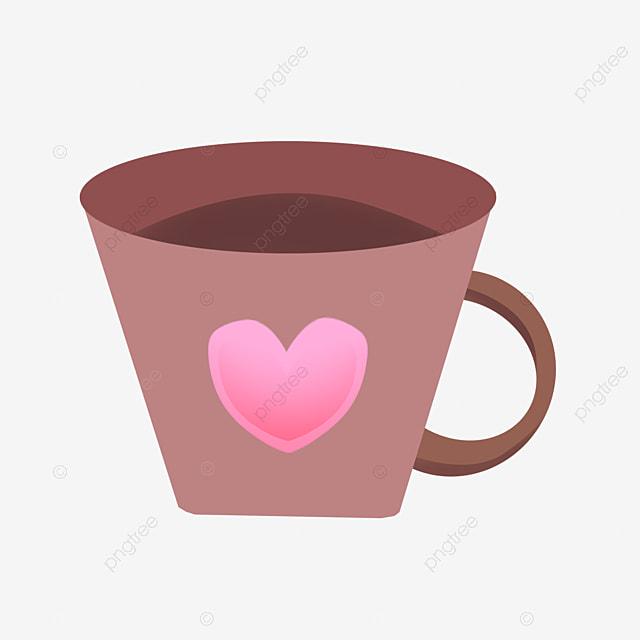 Coffee Heart ไฟล์ Love Shape Cup Geometric Png SqzMVpU