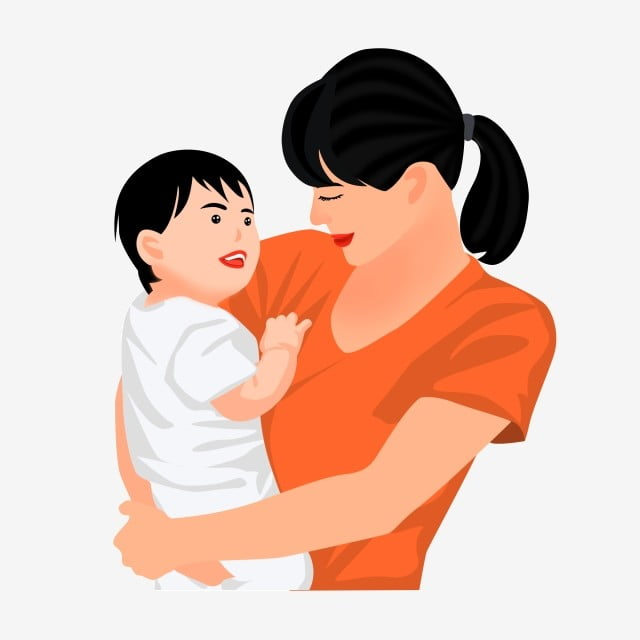 Mother Holding A Baby Lying And Playing Cartoon Child Play Mum With Children Playing Free Of Charge Png Transparent Clipart Image And Psd File For Free Download