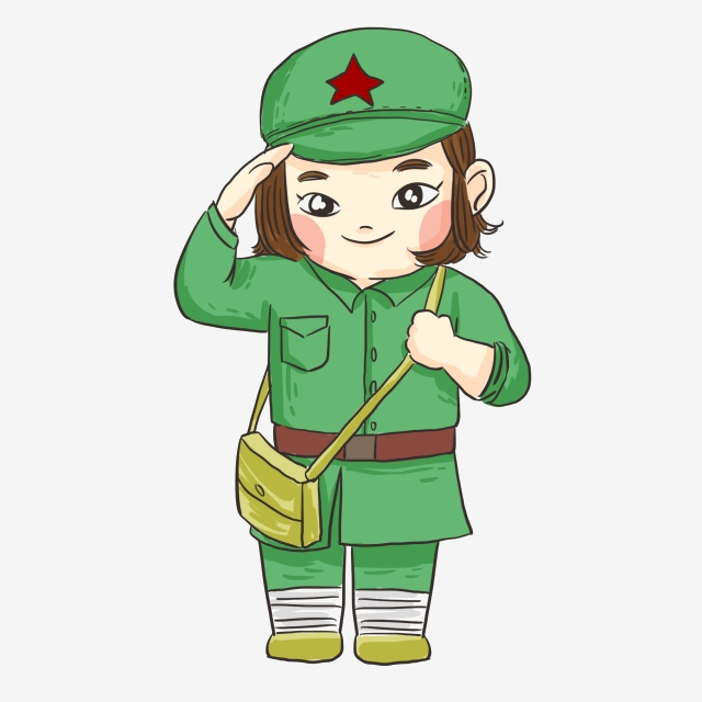 Dessin Anime Femme Soldat Illustration De Bouton Gratuit Armee De Liberation Feminine Dessin Anime Soldat Armee