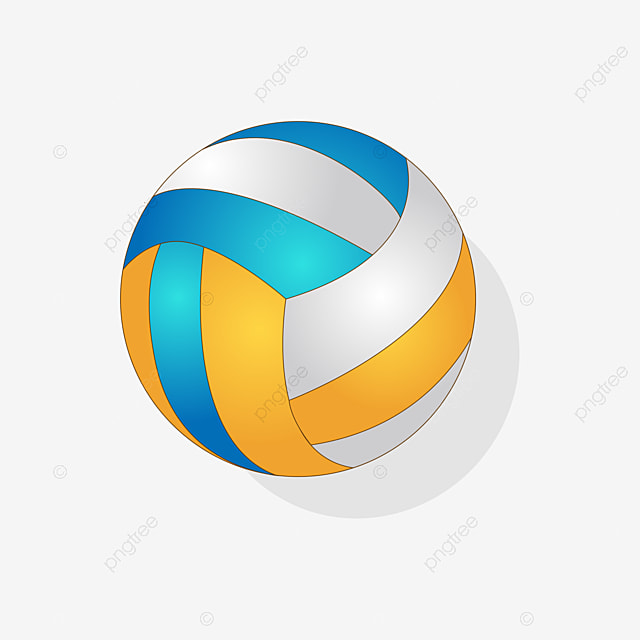 Sand Volleyball Ball Round Ball Colored Ball Cartoon Illustration Png And Vector With Transparent Background For Free Download