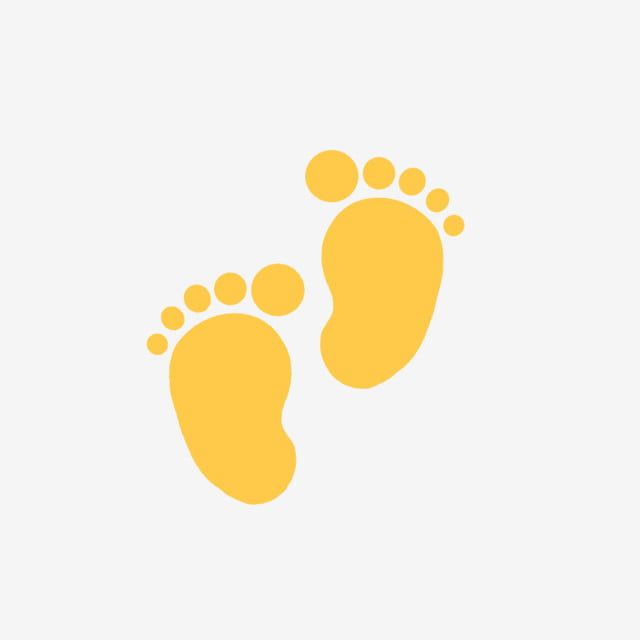 Baby yellow. S feet trace png