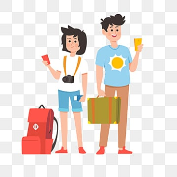 cute characters tourist characters travel trips couple outings, Tourist Clipart, Cute Characters, Tourist Characters PNG and PSD