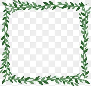 Free Download | Hand Painted Vine Leaf Square Frame ...
