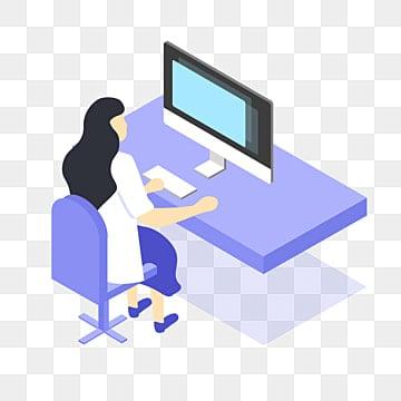 белый доктор на работе бесплатно, мультфильм, работник, офисный рабочий PNG и PSD