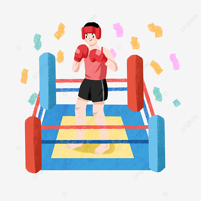 Boxing Fitness Little Girl Sport Fitness Illustration Boxing