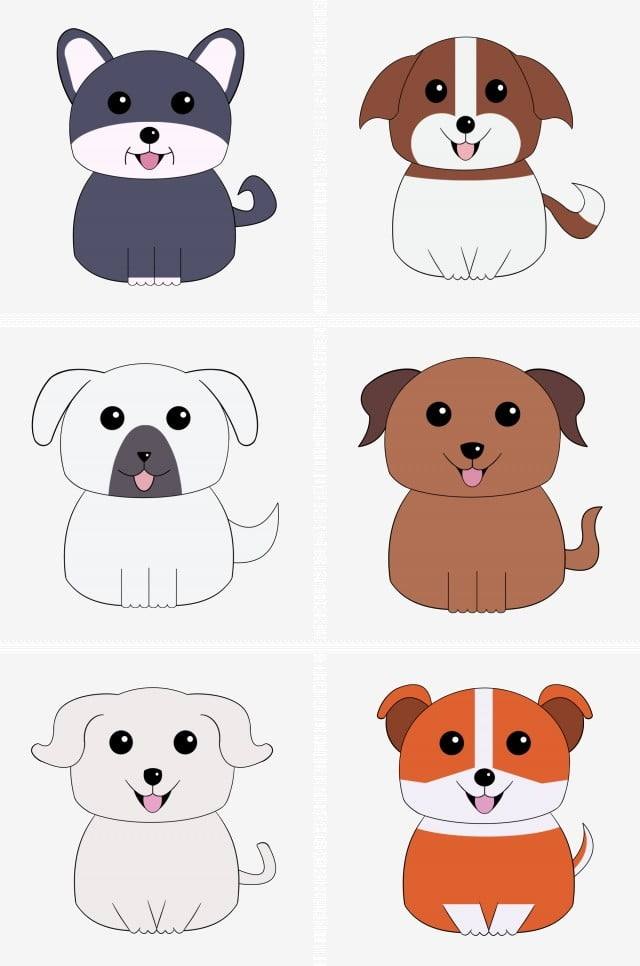 Cartoon Dog Cute Collection Vector Material Cartoon Cartoon Cute Cute Cartoon Png Transparent Clipart Image And Psd File For Free Download