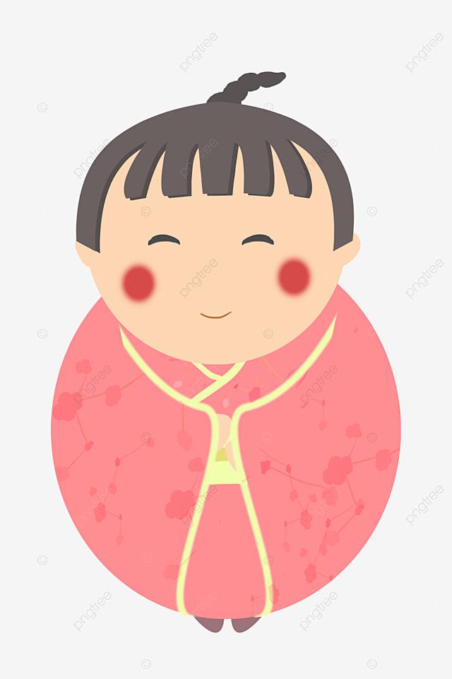 Ilustrasi Boneka Jepang Kartun Boneka Lucu Gaun Merah Muda Boneka Jepang Png Transparan Gambar Clipart Dan File Psd Untuk Unduh Gratis