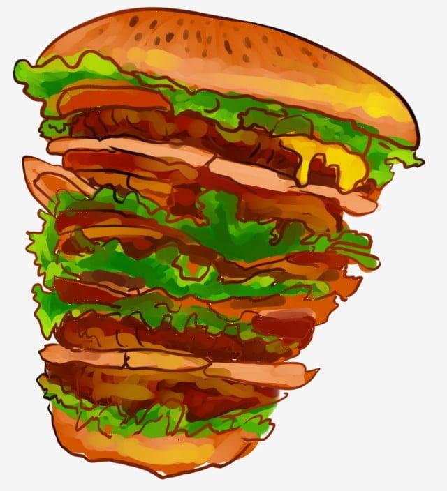 Melaleuca Hamburger Hamburger Ilustrasi Makanan Ilustrasi Makanan