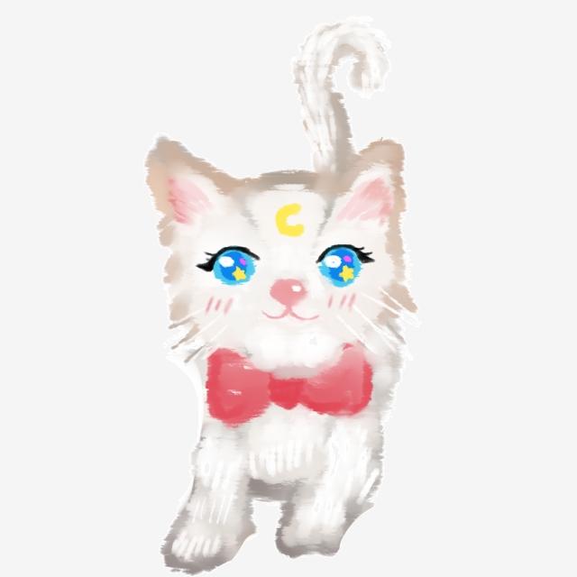 Dessin Animé Chat Mignon Petit Chat Blanc Gratuit Clipart ...