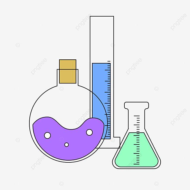 Cartoon Round Flask Illustration Measuring Cylinder Erlenmeyer Flask Beaker Png And Vector With Transparent Background For Free Download