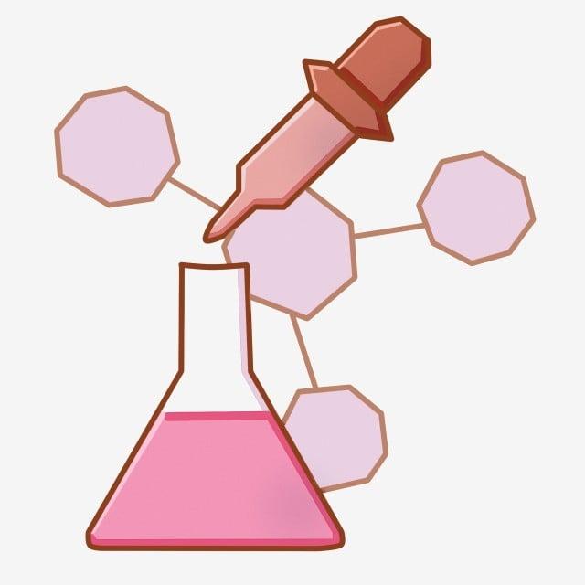 Fórmula Química Líquido Rojo Medicamento Químico Reacción