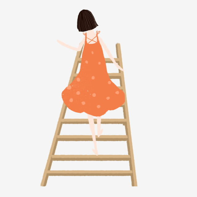 Cute Girl Climbing Stairs Free Illustration Cartoon Girl Climb Climbing Stairs Png Transparent Clipart Image And Psd File For Free Download