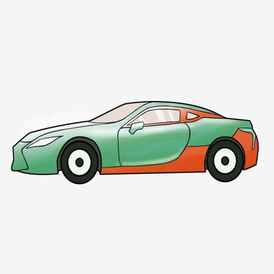 Belle voiture de sport 04 Clip Art Téléchargement gratuit