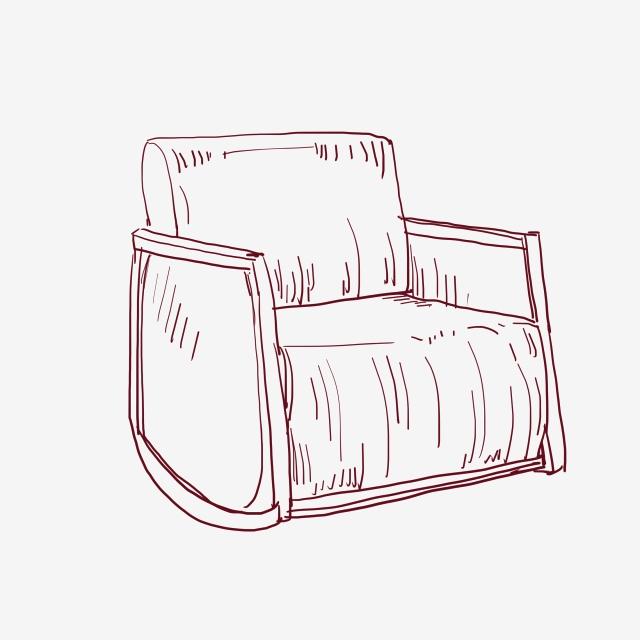 Line Drawing Sofa Furniture Illustration Sofa Furniture