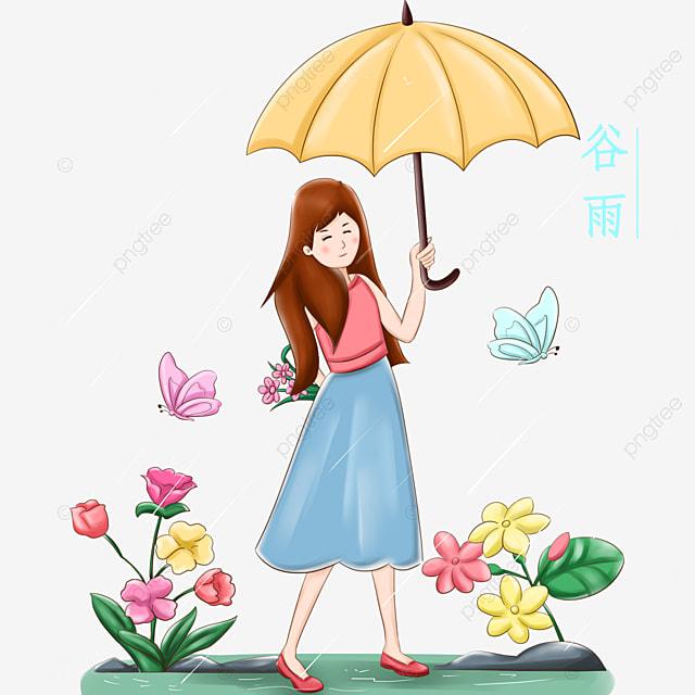 Illustration Du Personnage De Gu Yu Parapluie De Petite