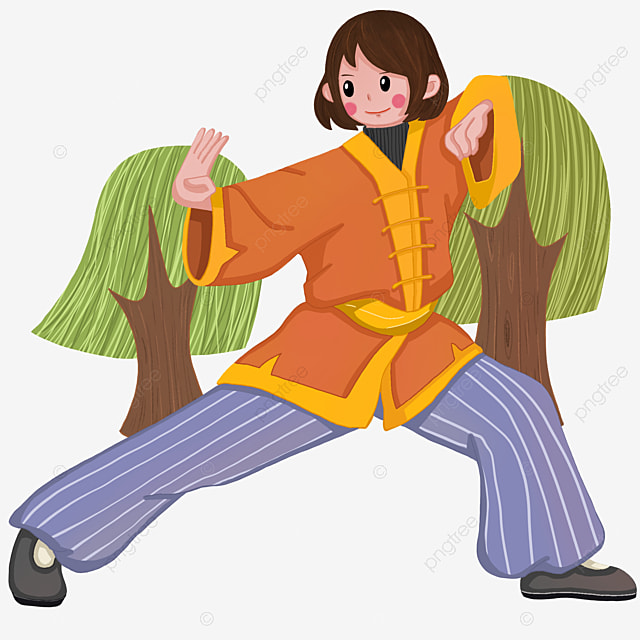 Martial Arts Fitness Little Girl Fitness Exercise Illustration Martial Arts Fitness Fitness Little Girl Png Transparent Clipart Image And Psd File For Free Download