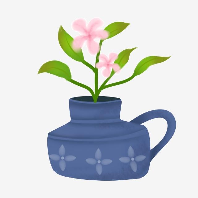 Flores De Color Rosa Plantas En Macetas Verdes Hojas Verdes