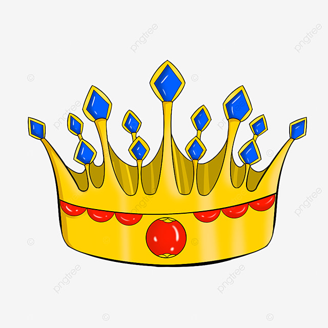 Red Sapphire Crown Illustration, Beautiful Crown, Crown, Cartoon Crown PNG and PSD