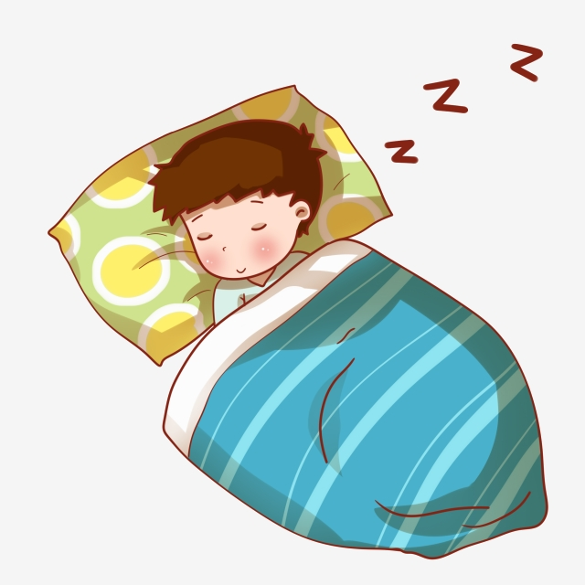 Sleeping Dreaming Little Boy, World Sleep Day Illustration
