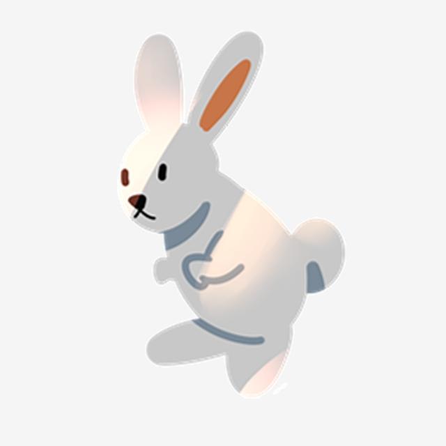 Картинка шагающего зайчика