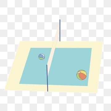Volleyball court. Png vector psd and