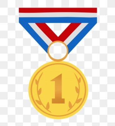 Golden Medal PNG Images | Vector and PSD Files | Free