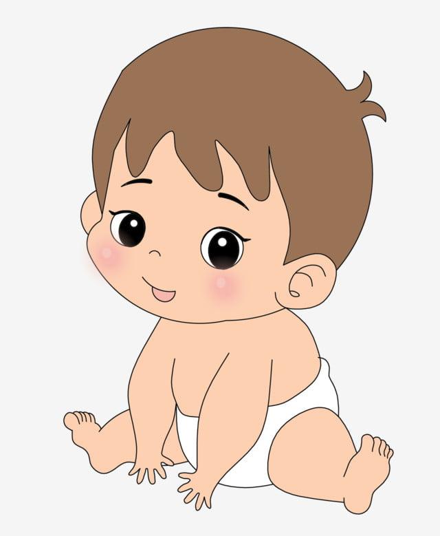 Ilustración De Dibujos Animados De Bebé Con Pañal Clipart De Bebé Bebé Usando Un Pañal Pañal Png Y Psd Para Descargar Gratis Pngtree
