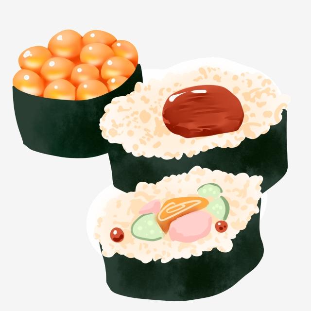 Japanese Food Sushi Illustration, Japanese Sushi ... (640 x 640 Pixel)