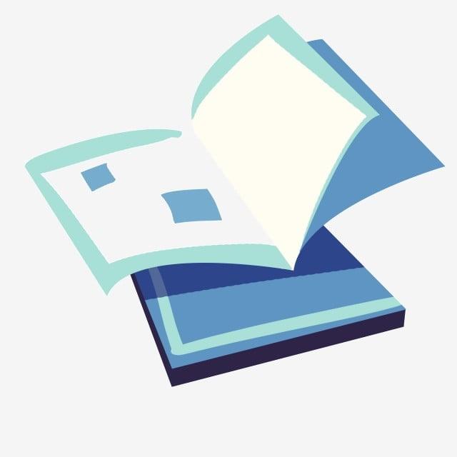 Illustration De Livre Bleu Ouvert Livre Ouvert