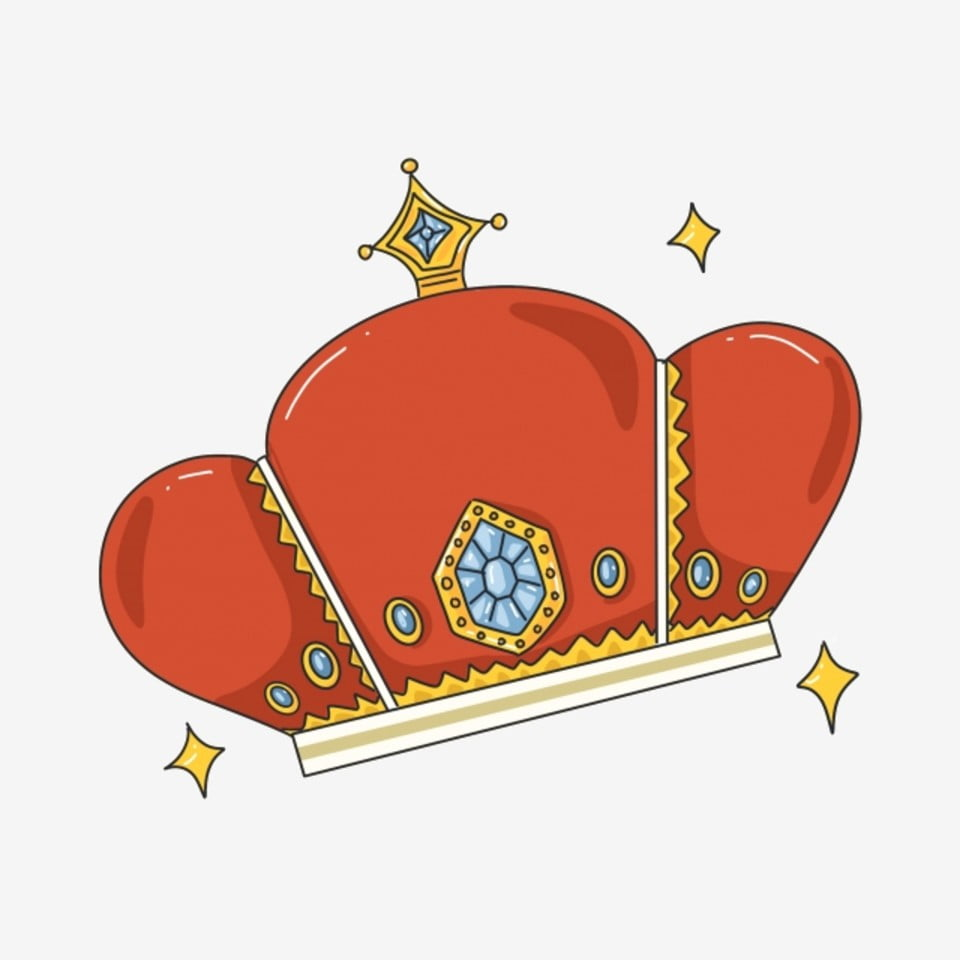 Red Game Crown Illustration, Game, Crown, Exquisite PNG and PSD