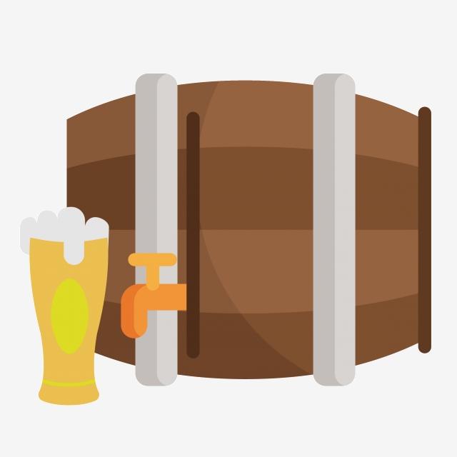 Wine Barrel Beer Mug Illustration, Beer, Wine Glass, Wine