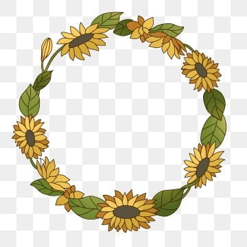 Sunflower Wreath Png Images Vector And Psd Files Free